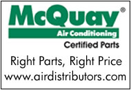 Factory Authorized McQuay Parts Distributor